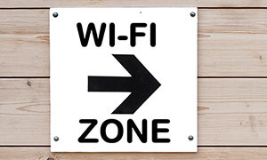 wifi zone sign